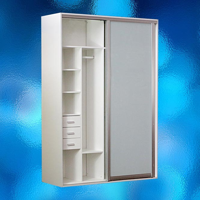 Frosted glass bathroom shelf