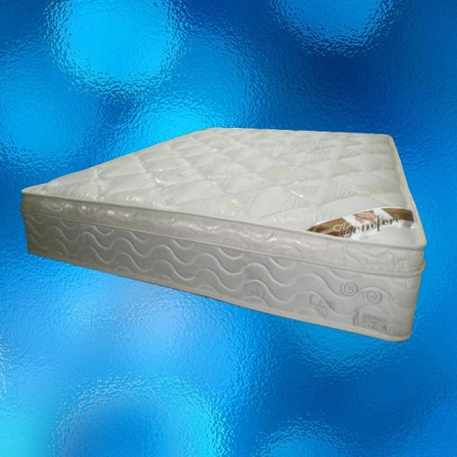 Euro Top Mattress - Double Size. 1 - Sided Euro Tops, 6-Turn Bonnel Spring - Size: 1370mm x 1880mm. Model No.BN-01-D