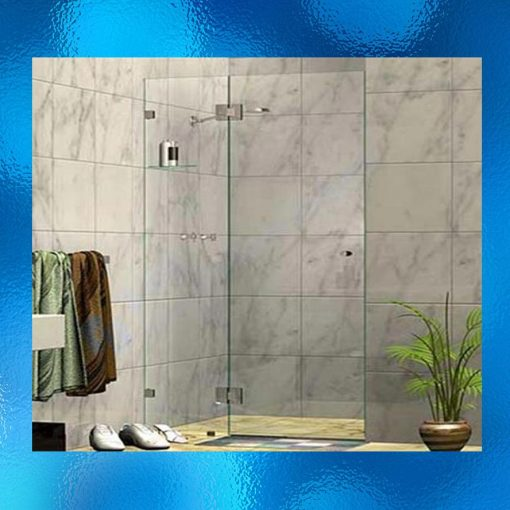 Wall To Wall Shower Screen - Model: SHJ-J2008, Size: 1200 X 1900mm (550mm fixed panel & 680mm swing panel), 10mm Toughened Safety Glass, Chrome Finished Stainless Steel Hinges, Compliant To Australian Standard AS/NZS 2208. Suitable For Either Left Or Right Side. Flat Packed Ready For Assembly - 2 Boxes