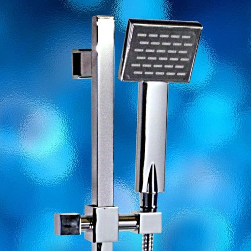 Shower Rail Set – Square, WELS Rated, Water Mark, Model: 802.01.10+YSD-1040. Stainless Steel, Chrome Finish, Brand New In Carton. savvysavers.com.au South Australia Adelaide