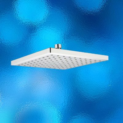 Rain Shower Head - Large Square, WELS Rated, Model: SH1004. Rub Clean Anti Calcium Shower Points, Pastic/Brass Polished Chrome Finish, Brand New In Carton.