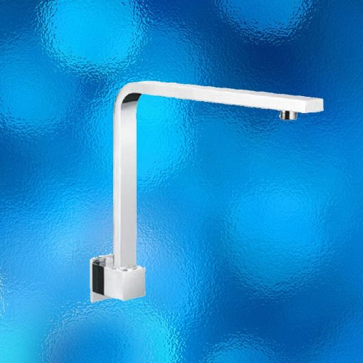 Shower Arm - Square, Model: 800.03.10. Wall Mounted, Solid Brass Construction, Chrome Finish, Brand New In Carton. Matches Our Square Shower Heads. IRP:$299.00