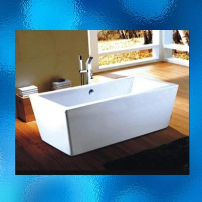 Qubi Freestanding Bath – With Chrome Over Flow & Drainage Parts. Model: XMD-03, Top Quality Acrylic Construction, A Contemporary Freestanding Design Bathtub That Will Add Style To Any Bathroom, Dimensions: 1700mm (L) x 800mm (W) x 590mm (H). IRP: $2,499.00 (Tap Fixture Not Included).