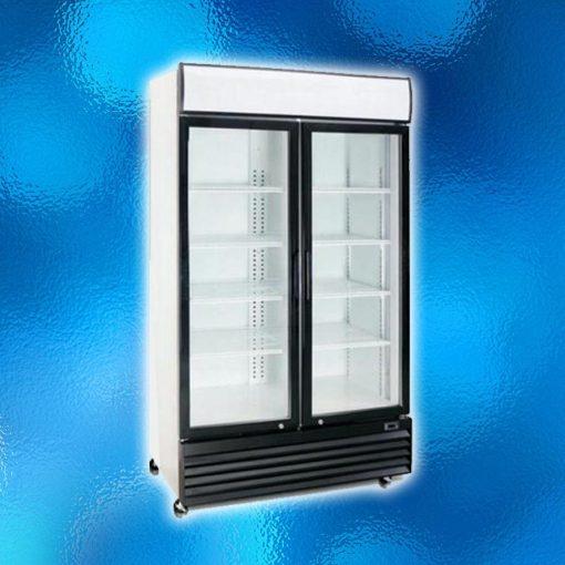 Upright Display Fridge - 2 Glass Doors