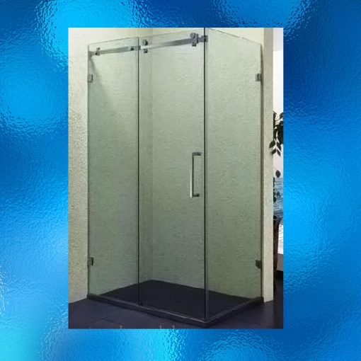 "Sliding Door Shower Screen - New, Model: SHJ-S001, Size: 900 X 1200 X 1900mm, Rectangular, Space Saving Sliding Door, 8mm Glass, Packages: 2 Box Of Glass Panels + 1 Box Of Accessories + 1 Pcs ""L-Shaped"" Ground Strip"
