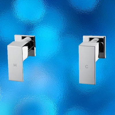 Wall-top Tap Set - Square, Water Mark, Model: 105.10.09, Solid Brass Construction, Chrome Finish. Brand New In Carton. IRP: $180.00