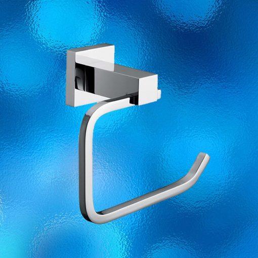 Toilet Paper Holder - Square - Chrome - Model: 6051