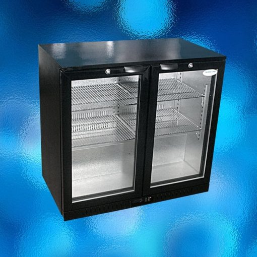 Black 2 door display fridge /Bar fridge.