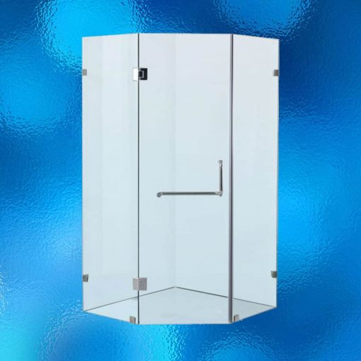 Shower screen cubicle diamond shape